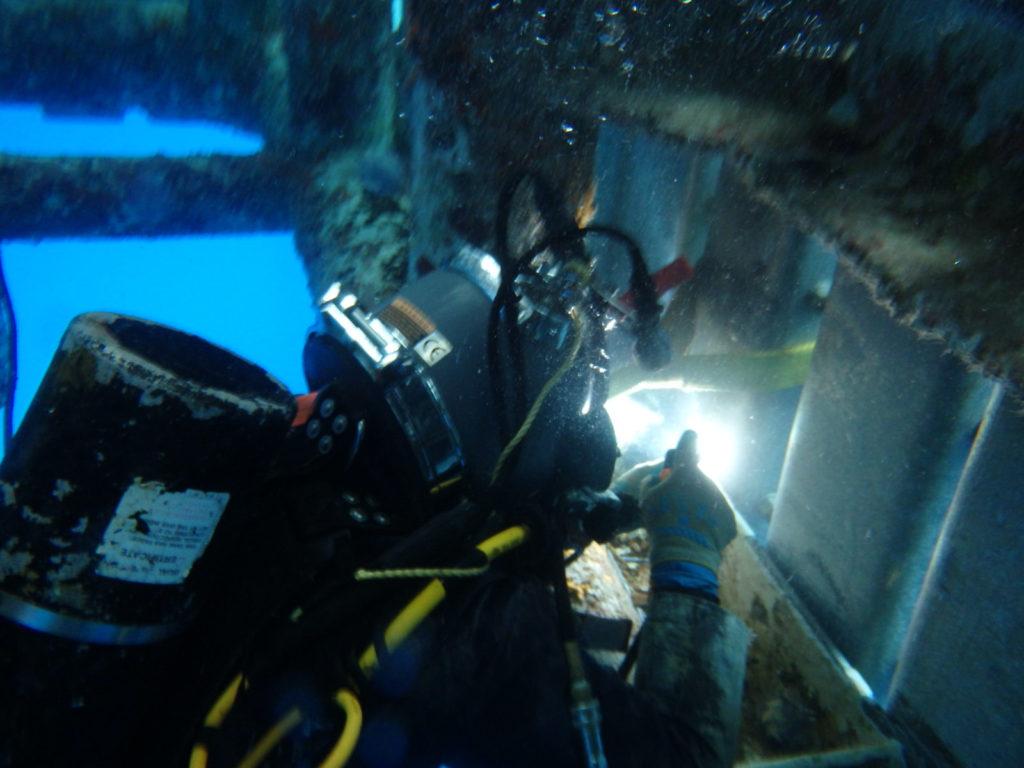 Welding underwater