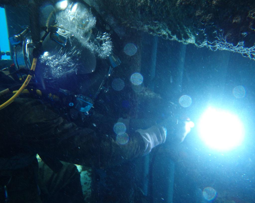 Welding underwater 2